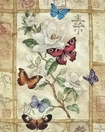 """Схема для вышивания крестом  """"Торжество сверкающих бабочек """" Название: Схема для вышивания крестом  """"Торжество..."""