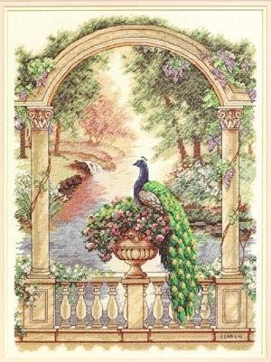 Вышитые картины, изделия из бисера и бусин, вязанные изделия, купить Majestic Peacock, Величественный павлин, 35110.