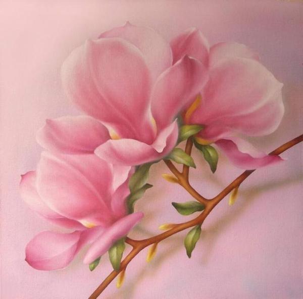 Аромат магнолии.  Сегодня, вновь Вас хочу окунуть в мир цветов, в мир красоты и познакомить с магнолией.