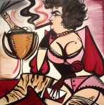 Laetitia Guilbaud изобразила Susan Boyle дерзкой бабенкой курящей сигару.