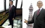 Восковая фигура президента США Барака Обамы в музее мадам Тюссо Лондона и на Луи Тюссо в Блэкпул.