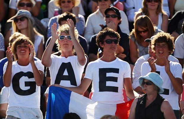 Теннисные фанаты Australia Open