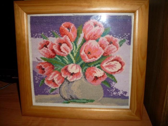 Ваза с тюльпанами - Схемы и наборы вышивки бисером крестом