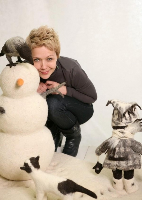 Ирина Андреева и её куклы.