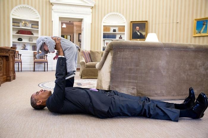 #1 Barack Obama And Ella Rhodes, Daughter Of Deputy National Security Advisor Ben Rhodes.