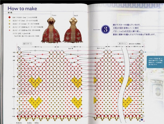 Бисероплетение схемы из бисера куклы