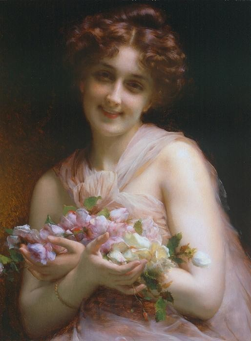 Etienne Adolphe Piot. Flowers.