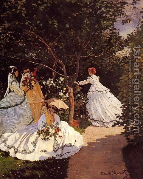 Claude Oscar Monet : Women In The Garden