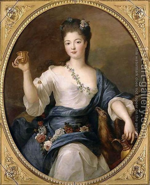 Pierre Gobert : Portrait of the Duchess of Modena as Hebe