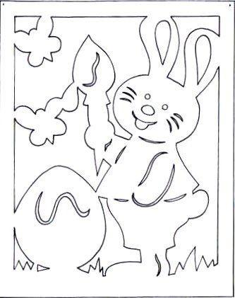 Вырезание - пасхальные зайцы.