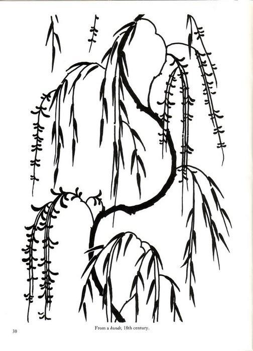 Японские цветочные узоры и мотивы