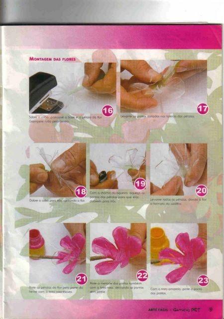 Как сделать цветы из пластиковых бутылок пошаговая инструкция с