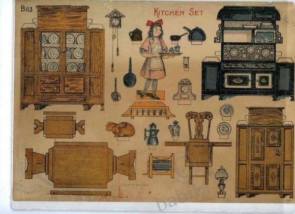 Мебель для бумажных кукол - Все для кукол, фото.