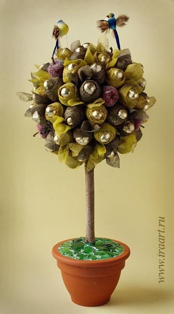 Конфетное дерево фото своими руками