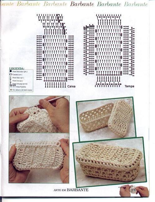 Вязание крючков в коробочке