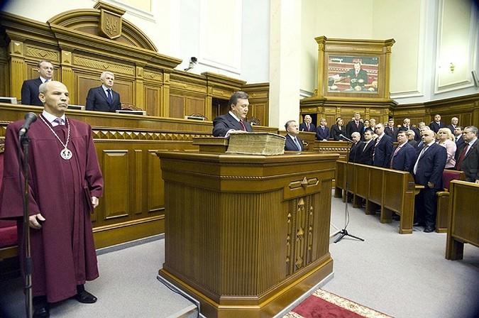 Инаугурация Виктора Януковича, Киев, Украина, 25 февраля 2010 года.