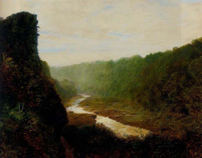 Landscape with a winding river