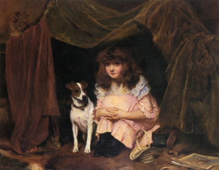The Hiding Place - Charles Burton Barber - 1891