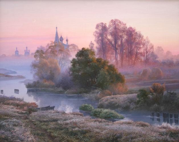 Осенний рассвет над Темзой. 2006г.