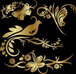 Удивительно красивые золотые узоры в формате PNG 12...