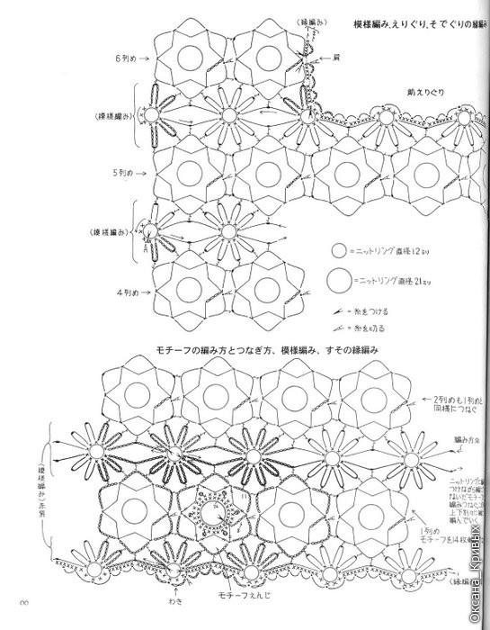 Схемы узоров по вязанию спицами зигзагообразной нитью