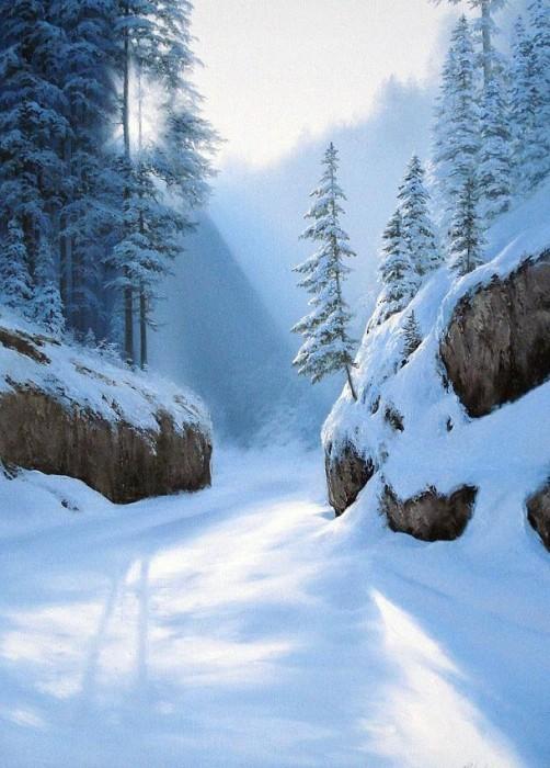 Зимняя сказка художника евгения