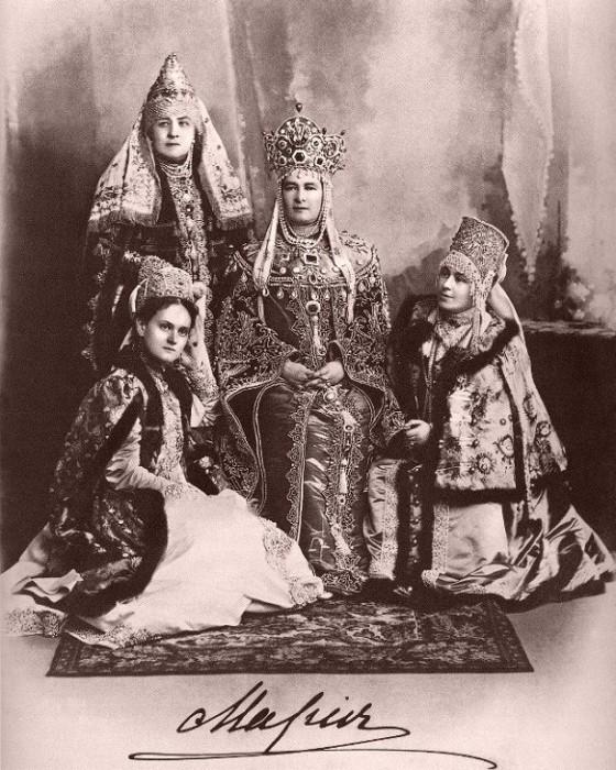 1353670 1903 ball   maria pavl. with freilins Царь Николай II возрождал Россию. Собрание редких фотографий