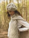 Вязаный спицами берет из INTERWEAVE. вязание спицами юбки