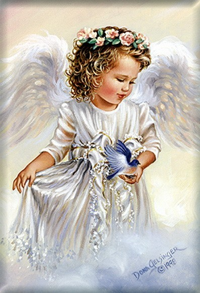 "Схема вышивки  ""Little angel "" ."