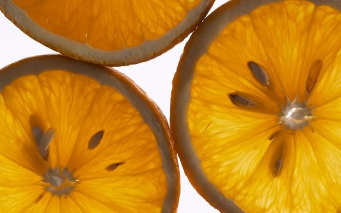 Долька апельсина HD Широкоформатные обои для широкоэкранного.