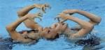 Выступление пар на чемпионате Европы по синхронному плаванию в Будапеште, 5 августа 2010 года.