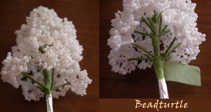 мастер-класс - цветы из бисера.