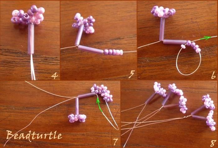 О других поделках из бисера смотрите здесь.  Схемы плетения из бисера - жгуты.  Очень понравились эти цветочки.