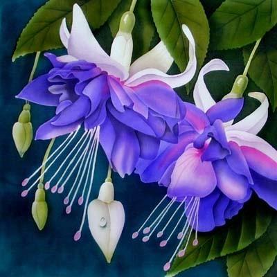 Радужные крылышки стрекоз, И пера жар-птицы переливы.  Фуксия.  Цветок волшебных грез.  Королева сказочного мира.