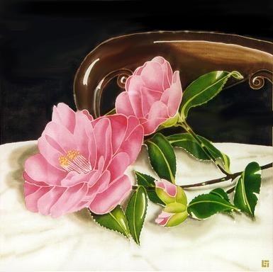 Silk Painting Camellia.