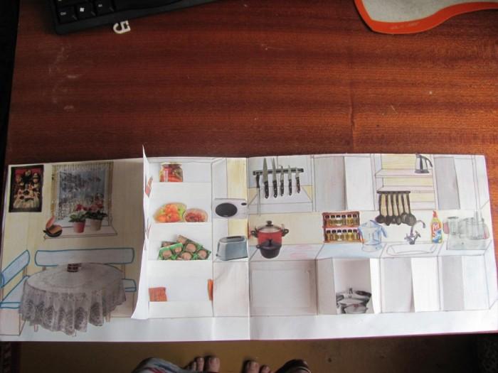 Как сделать бумажный домик для бумажных кукол