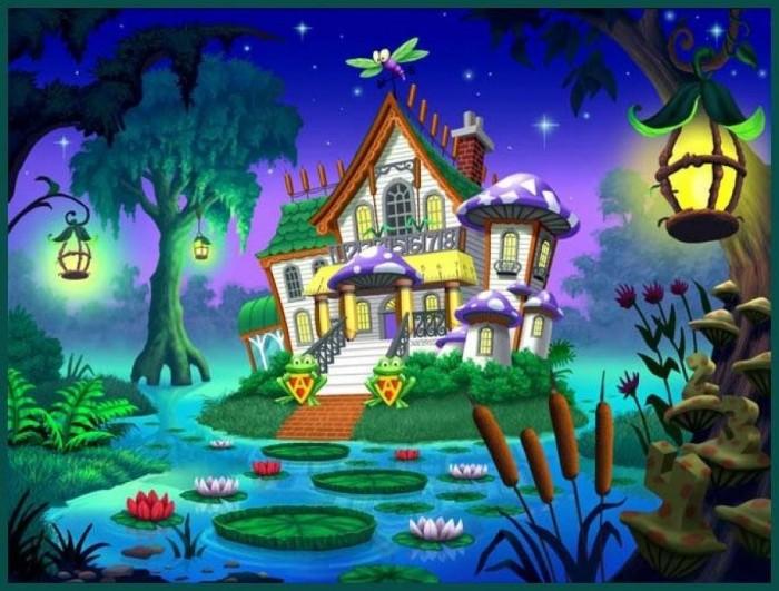 Картинки с детской тематикой, замки, сказка.  Сказочные фоны.