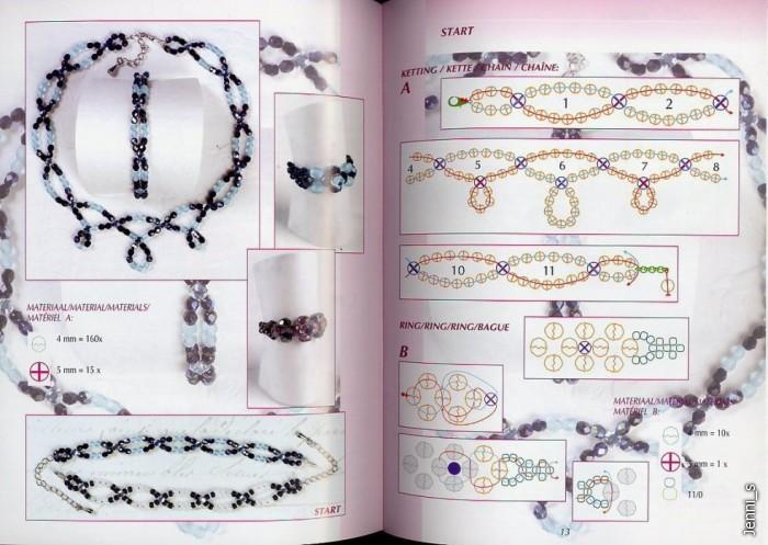 браслеты, колье из бисера_изделия+схемы.