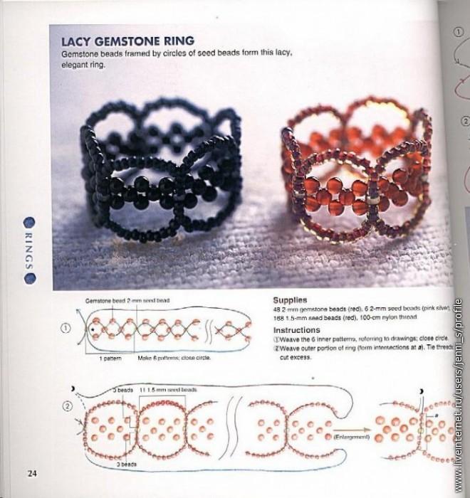 Как сделать кольцо для начинающих из бисера