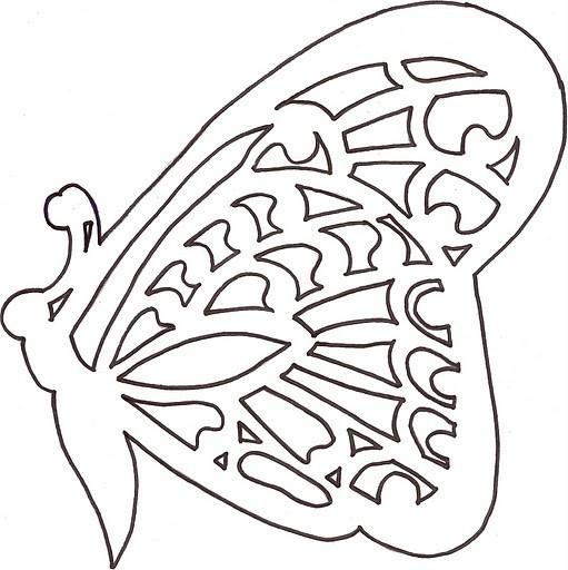 Схемы киригами - бабочки