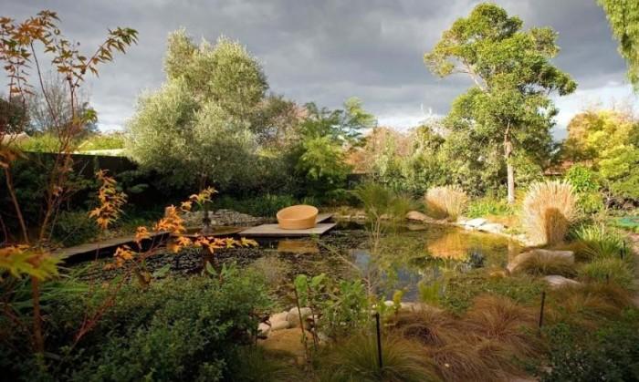 Дизайн сада в романтическом стиле.