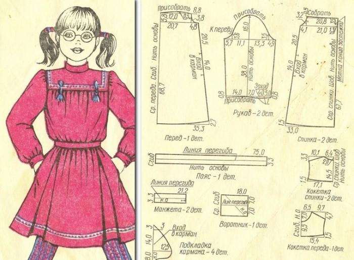 Платье для девочки-школьницы  152 - 76