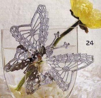 Бабочка крючком - схема.