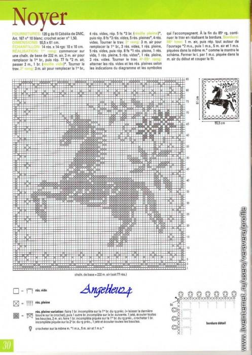 Схемы вязания лошади крючком 86