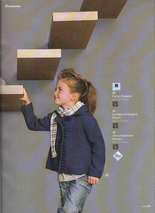 вязанные спицами кофты для девочек.