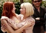 Актрисы Николь ЛаЛиберте (слева) и Хейли Беннетт перед премьерой фильма 'Кабум' Грега Араки.