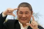 Японский режиссер Такеши Китано перед премьерой своего фильма 'Ярость', вошедшего в основной конкурс.