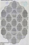 Схема салфетки с яичками. Без фото