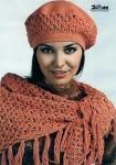 Вязание берета Вязание платка.
