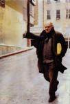 Фотография, которая была напечатана в журнале 'Огонек'. 'Огонек' был первым советским изданием, которому Иосиф Бродский дал интервью -- по телефону; оно вышло в 31 номере от июля 1988 года.